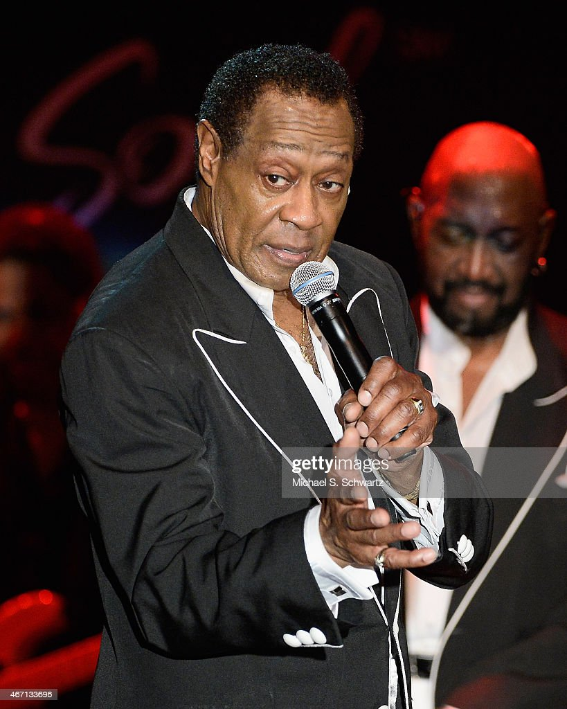 Musician Joe Herndon performs during The Temptations appearance at The Canyon Club on March 20, 2015 in Agoura Hills, California.