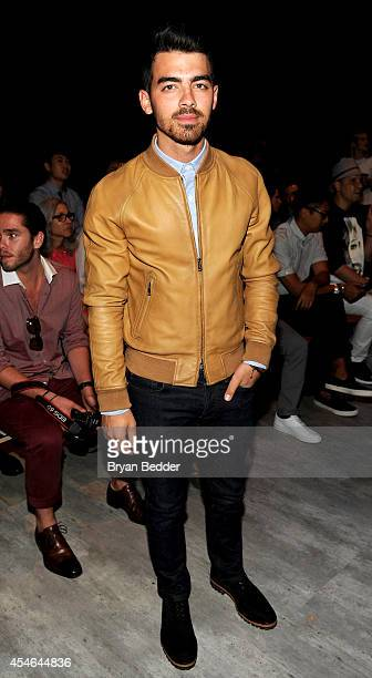 Musician Joe Jonas attends the Todd Snyder fashion show during MercedesBenz Fashion Week Spring 2015 at The Pavilion at Lincoln Center on September 4...