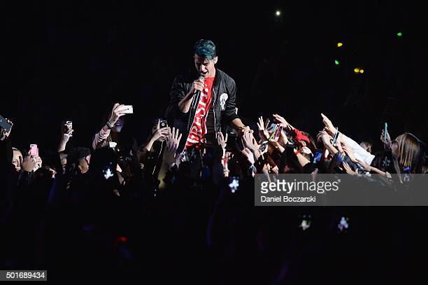 Musician Joe Jonas of the band DNCE performs onstage during 1035 KISS FM's Jingle Ball 2015 presented by Capital One at Allstate Arena on December 16...