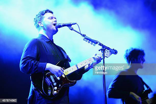 Musician Joe Newman of altJ performs onstage during day 2 of the 2014 Life is Beautiful iestival on October 25 2014 in Las Vegas Nevada