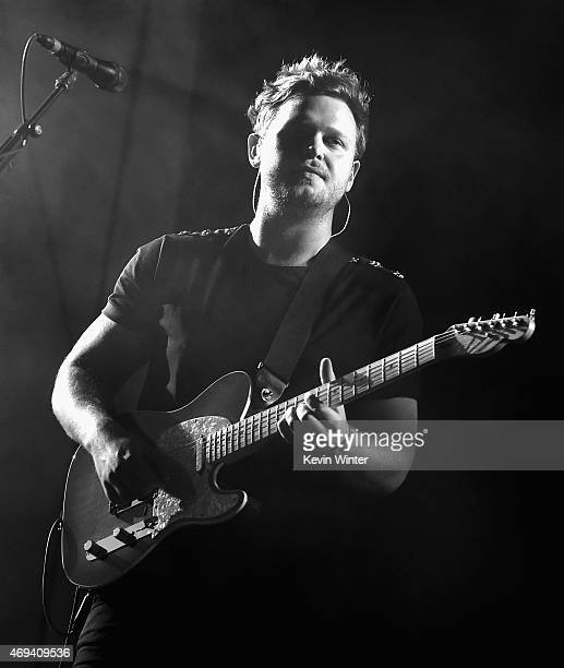 Musician Joe Newman of altJ performs onstage during day 2 of the 2015 Coachella Valley Music Arts Festival at the Empire Polo Club on April 11 2015...
