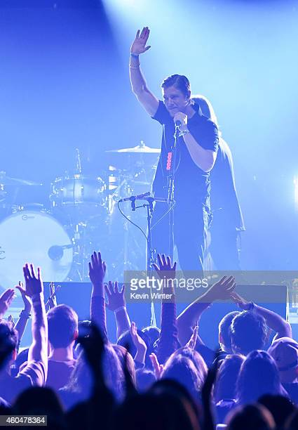 Musician Joe Newman of AltJ performs onstage during day two of the 25th annual KROQ Almost Acoustic Christmas at The Forum on December 13 2014 in...