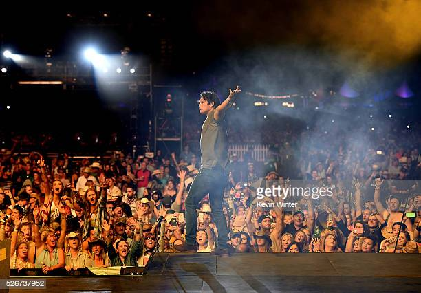 Musician Joe Nichols performs onstage during 2016 Stagecoach California's Country Music Festival at Empire Polo Club on April 30 2016 in Indio...