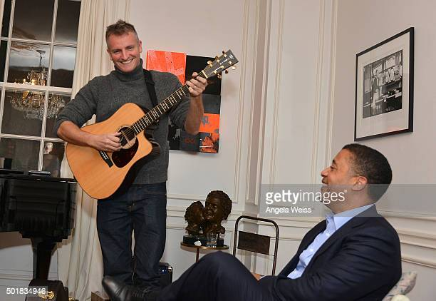 Musician Joe Sumner performs at the SAGAFTRA The Art Of Elysium and Rabbit Bandini celebrate Elysium Bandini Studios on December 17 2015 in Los...