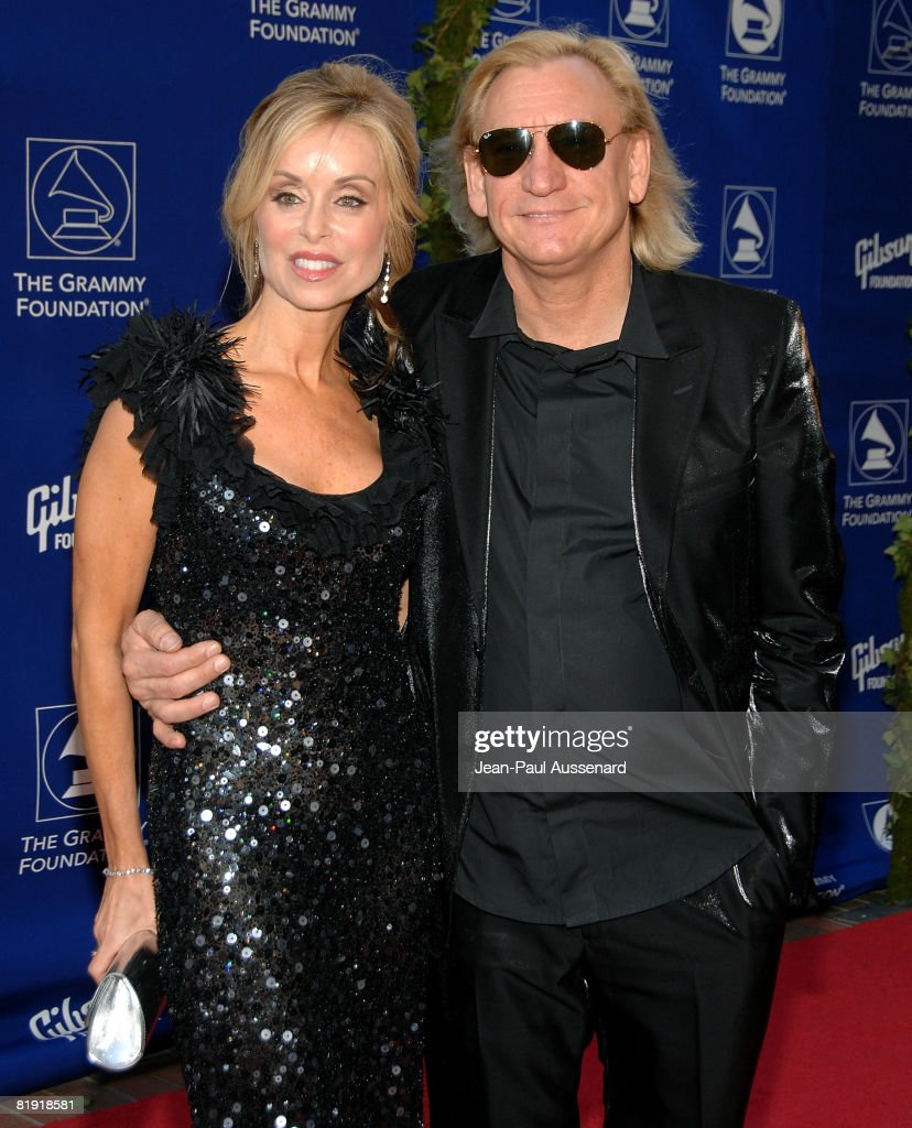 Musician Joe Walsh and guest arrive at the GRAMMY Foundation Starry Night held at the University of Southern California on July 12th, 2008 in Los Angeles, California.