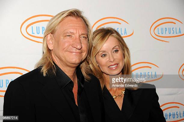Musician Joe Walsh and his wife Marjorie arrive at the 2010 Lupus LA Orange Ball at the Beverly Wilshire Four Seasons Hotel on May 6 2010 in Beverly...