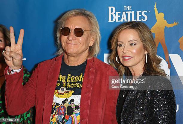 Musician Joe Walsh and his wife Marjorie Bach attend the 10th anniversary celebration of The Beatles LOVE by Cirque du Soleil at The Mirage Hotel...