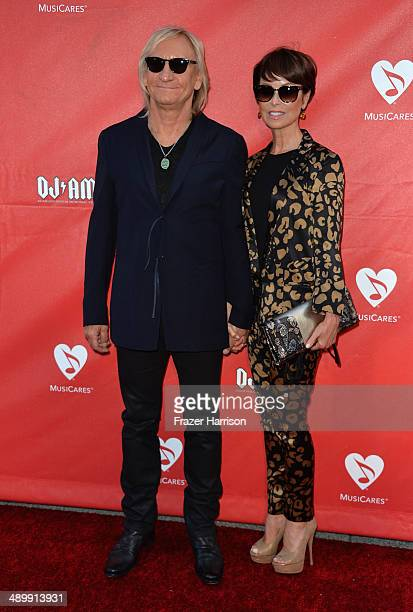 Musician Joe Walsh and Marjorie Bach attend the 10th annual MusiCares MAP Fund Benefit Concert at Club Nokia on May 12 2014 in Los Angeles California