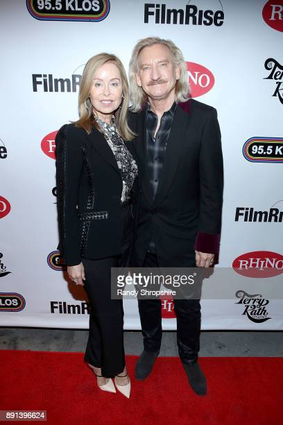 Musician Joe Walsh and wife Marjorie Bach arrive to the LA screening of Chicago The Terry Kath Experience at Ahrya Fine Arts by Laemmle on December...
