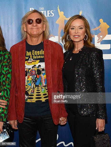 Musician Joe Walsh and wife Marjorie Bach attend the 10th anniversary celebration of The Beatles LOVE by Cirque du Soleil at the Mirage Hotel Casino...