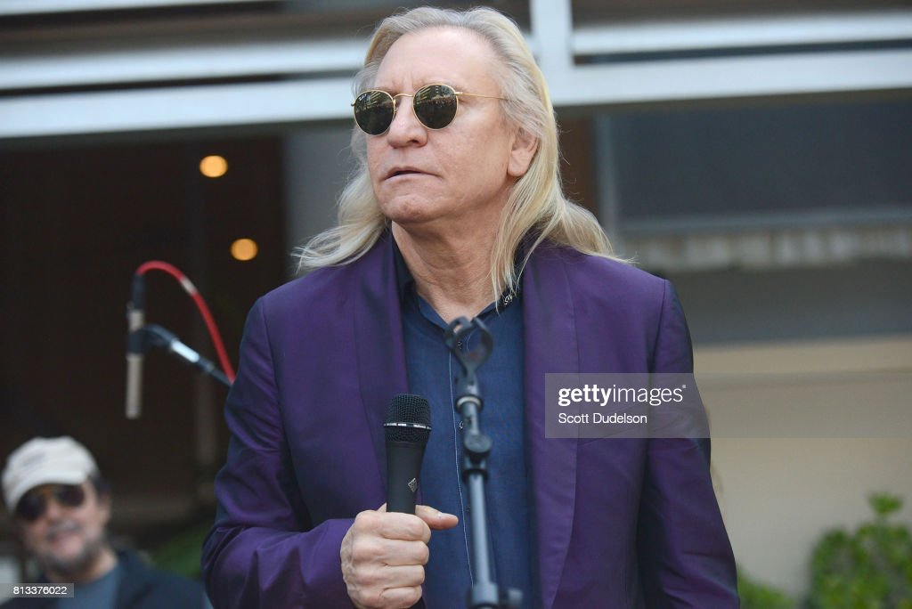 Musician Joe Walsh of The Eagles celebrates Ringo Starr's 77th birthday at the annual 'Peace & Love' celebration at Capitol Records Tower on July 7, 2017 in Los Angeles, California.