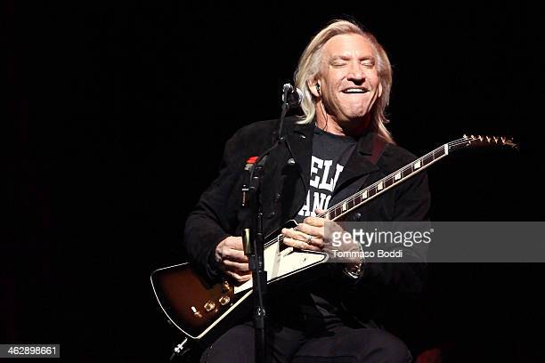 Musician Joe Walsh of The Eagles performs at the grand opening of the newly renovated Forum on January 15 2014 in Inglewood California