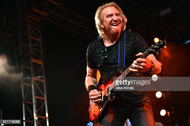 Musician Joe Walsh performs on stage with The Arcs during day 2 of the 2016 Coachella Valley Music Arts Festival Weekend 1 at the Empire Polo Club on...