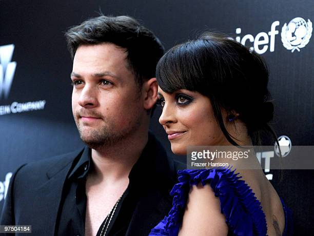 Musician Joel Madden and Nicole Richie arrive at the Montblanc Charity Cocktail Hosted By The Weinstein Company To Benefit UNICEF held at Soho House...
