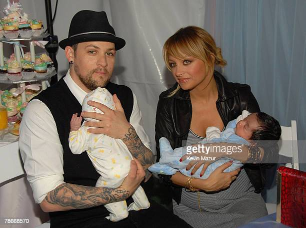 HOLLYWOOD DECEMBER 03 Musician Joel Madden and Socialite Nicole Richie at the Launch of RichieMadden Childrens Foundation at Los Angeles Free Clinic...