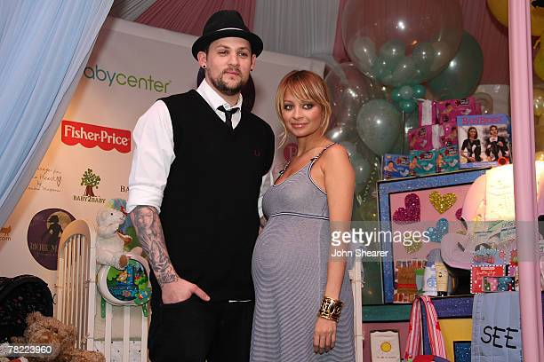 Musician Joel Madden and socialite Nicole Richie at the Nicole Richie and John Madden Launch Children's Foundation Event press conference at the Los...