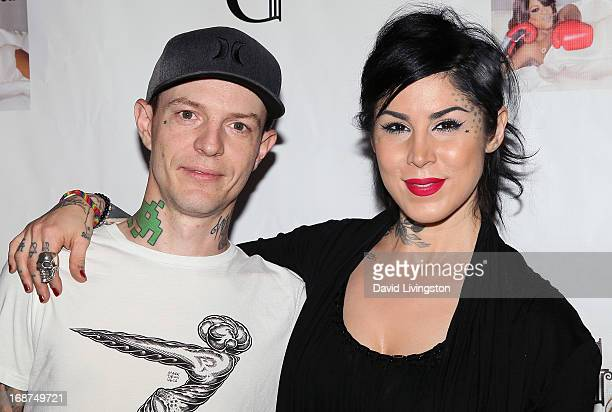 Musician Joel Zimmerman aka deadmaus and TV personality Kat Von D attend a Niecy Nash signing for her book It's Hard to Fight Naked at the Luxe Rodeo...