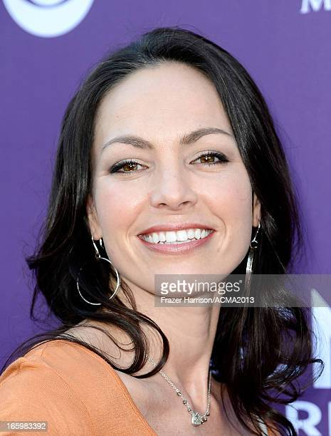 Musician Joey Martin Feek of Joey Rory arrive at the 48th Annual Academy of Country Music Awards at the MGM Grand Garden Arena on April 7 2013 in Las...