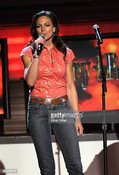 Musician Joey Martin Feek performs onstage during the 45th Annual Academy of Country Music Awards at the MGM Grand Garden Arena on April 18 2010 in...