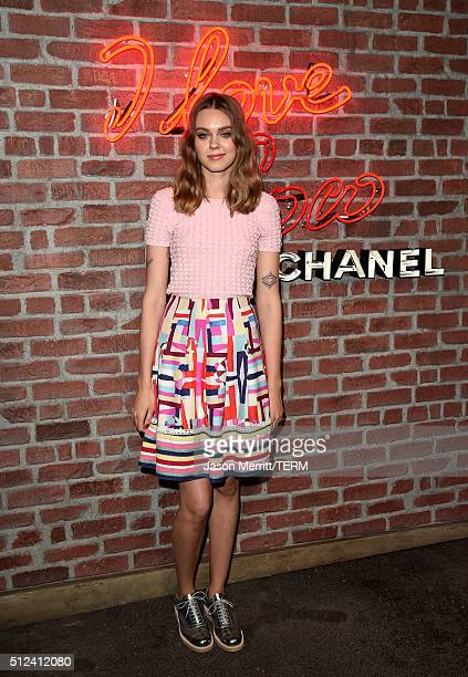 Musician Johanna Söderberg attends the I Love Coco Backstage Beauty Lounge at Chateau Marmont's Bar Marmont on February 25 2016 in Hollywood...