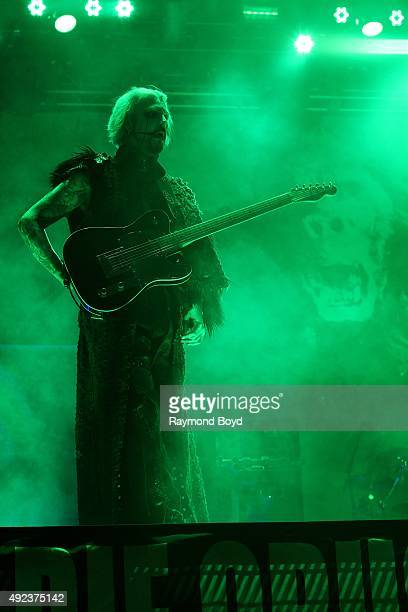 Musician John 5 from Rob Zombie performs during the 'Louder Than Life' festival at Champions Park on October 3 2015 in Louisville Kentucky