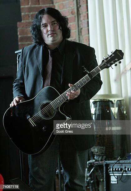 Musician John Auer backstage at the ASCAP Tribeca Music Lounge held at the Canal Room during the 2007 Tribeca Film Festival on May 3 2007 in New York...
