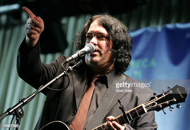 Musician John Auer performs onstage at the ASCAP Tribeca Music Lounge held at the Canal Room during the 2007 Tribeca Film Festival on May 3 2007 in...