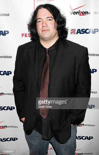 Musician John Auer poses at the ASCAP Tribeca Music Lounge held at the Canal Room during the 2007 Tribeca Film Festival on May 3 2007 in New York City