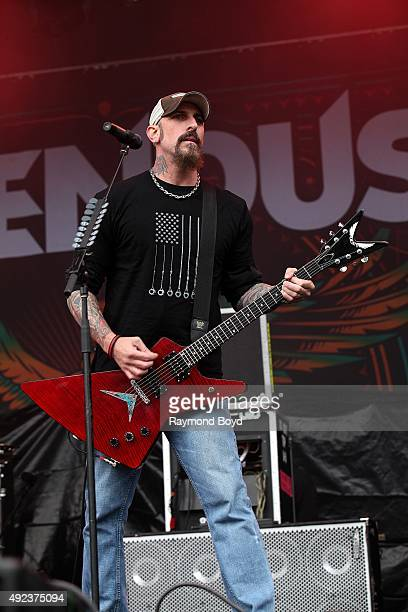 Musician John Connolly from Sevendust performs during the 'Louder Than Life' festival at Champions Park on October 3 2015 in Louisville Kentucky