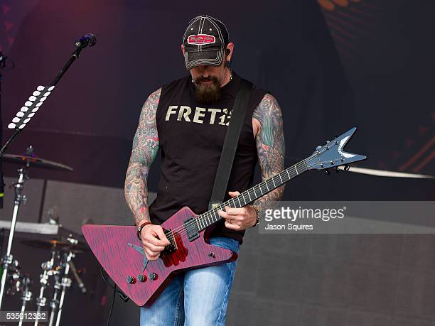 Musician John Connolly of Sevendust performs at Catch The Fever Festival Grounds on May 28 2016 in Pryor Oklahoma