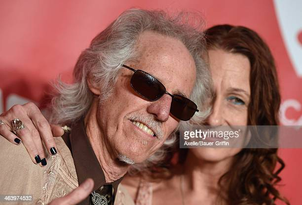 Musician John Densmore of the Doors and Ildiko Von Somogyi arrive at the 2015 MusiCares Person of The Year honoring Bob Dylan at Los Angeles...