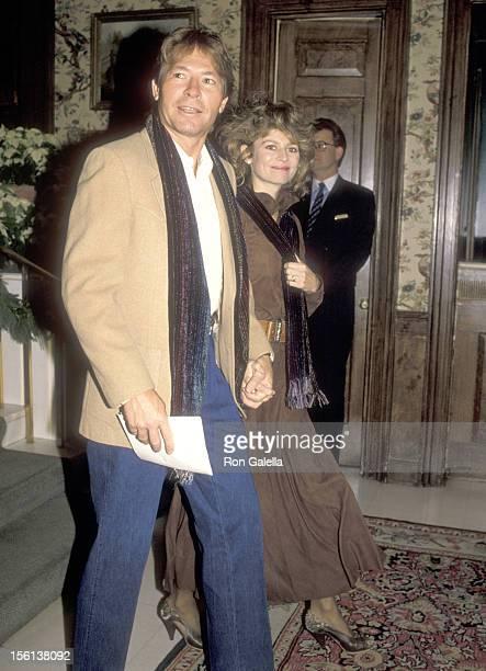 Musician John Denver and wife Cassandra Delaney on December 3 1988 sighting at The Fairfax Hotel in Washington DC
