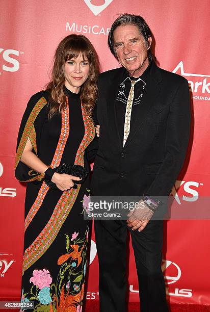Musician John Doe and guest attend the 25th anniversary MusiCares 2015 Person Of The Year Gala honoring Bob Dylan at the Los Angeles Convention...
