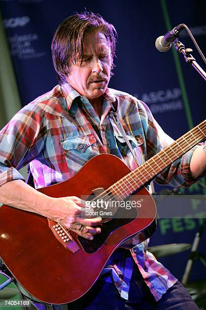 Musician John Doe of the band X performs onstage at the ASCAP Tribeca Music Lounge held at the Canal Room during the 2007 Tribeca Film Festival on...