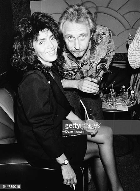 Musician John Entwistle and a friend attending an event at the new Hammersmith Palais London June 4th 1987