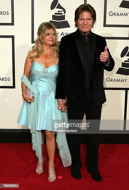 Musician John Fogerty and his wife Julie Fogerty arrive at the 50th annual Grammy awards held at the Staples Center on February 10 2008 in Los...