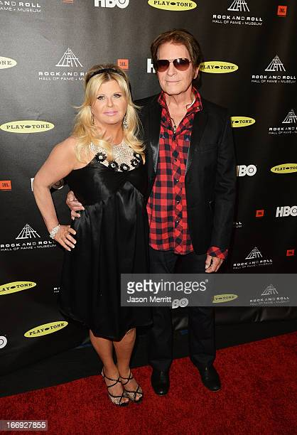 Musician John Fogerty and Julie Lebiedzinski arrive at the 28th Annual Rock and Roll Hall of Fame Induction Ceremony at Nokia Theatre LA Live on...