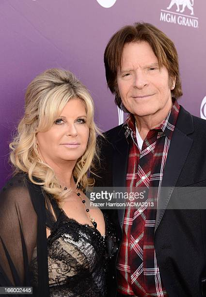 Musician John Fogerty and Julie Lebiedzinski attends the 48th Annual Academy of Country Music Awards at the MGM Grand Garden Arena on April 7 2013 in...