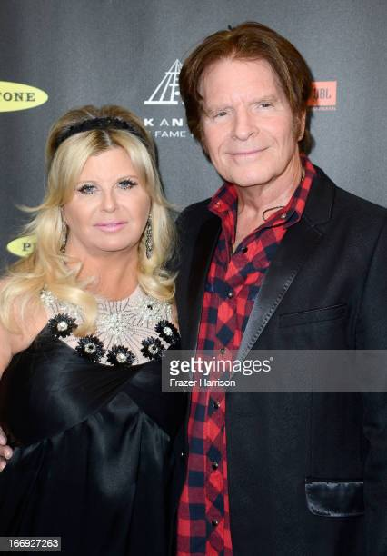 Musician John Fogerty and wife Julie Lebiedzinski attend the 28th Annual Rock and Roll Hall of Fame Induction Ceremony at Nokia Theatre LA Live on...