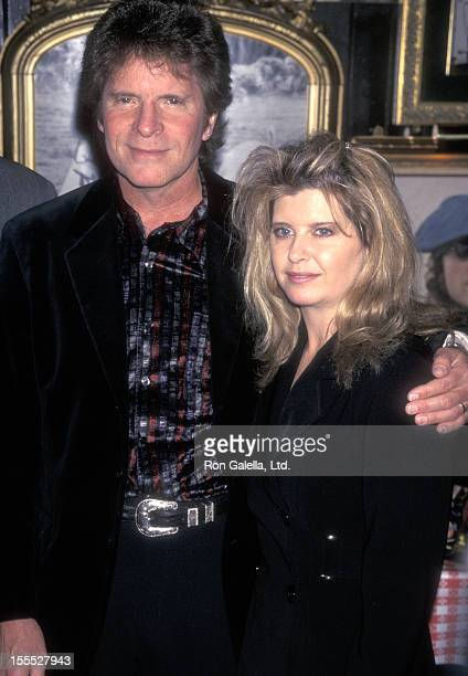 Musician John Fogerty and wife Julie Lebiedzinski attend the Fourth Annual Orville H Gibson Awards on February 24 1998 at The Hard Rock Cafe in New...
