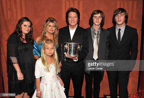 Musician John Fogerty daughters Lyndsay Fogerty Kelsy Fogerty wife Julie Fogerty sons Tyler Fogerty and Shane Fogerty attend the 58th Annual BMI Pop...