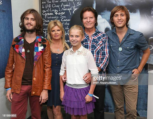 Musician John Fogerty with his wife Julie Lebiedzinski and children Tyler Fogerty Shane Fogerty and Kelsy Cameron Fogerty attend the 'John Fogerty...