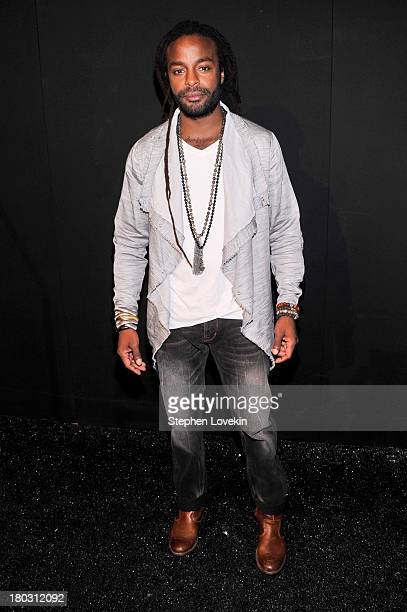 Musician John Forte poses backstage at the Nanette Lepore fashion show during MercedesBenz Fashion Week Spring 2014 at The Stage at Lincoln Center on...