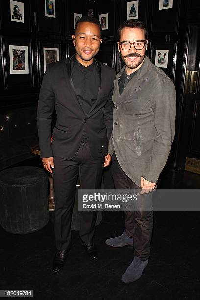 Musician John Legend and Jeremy Piven at the John Legend performance at Le Baron The Scotch of St James on September 27 2013 in London England