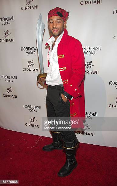 Musician John Legend arrives to Roberto Cavalli's Halloween Party at Cipriani 42nd Street in New York City on October 31 2007