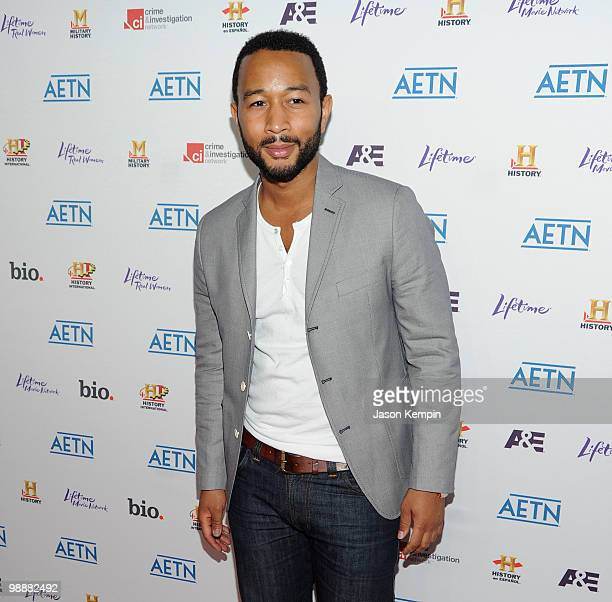 Musician John Legend attends the 2010 A&E Upfront at the IAC Building on May 5, 2010 in New York City.