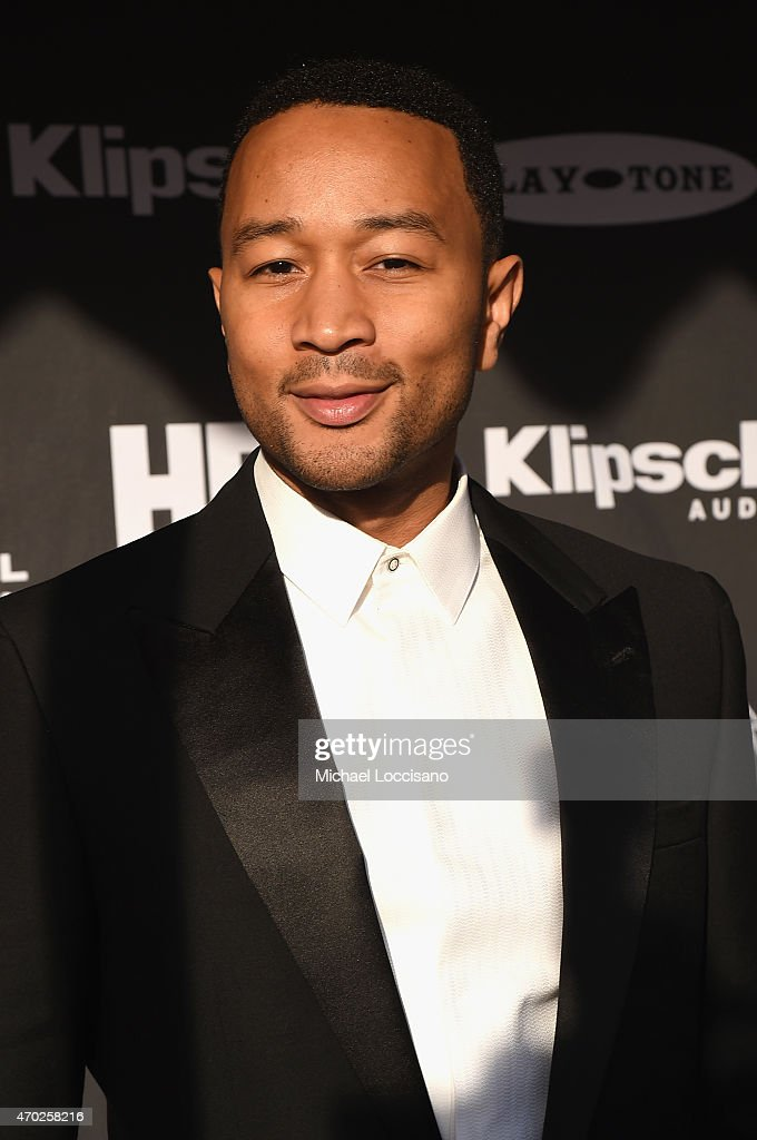 Musician John Legend attends the 30th Annual Rock And Roll Hall Of Fame Induction Ceremony at Public Hall on April 18, 2015 in Cleveland, Ohio.