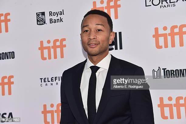 Musician John Legend attends the La La Land Premiere during the 2016 Toronto International Film Festival at Princess of Wales Theatre on September 12...