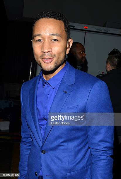 Musician John Legend attends The Night That Changed America A GRAMMY Salute To The Beatles at the Los Angeles Convention Center on January 27 2014 in...