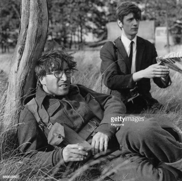 Musician John Lennon of English rock band the Beatles during the filming of the black comedy 'How I Won the War' in Hanover Germany 8th September 1966